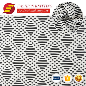 Different style fancy cloth material poly spandex jacquard textile fabric