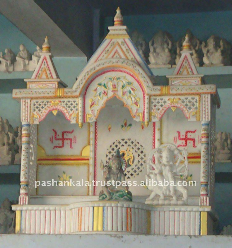 Emejing Hindu Small Temple Design Pictures For Home Contemporary . Emejing  Marble ...
