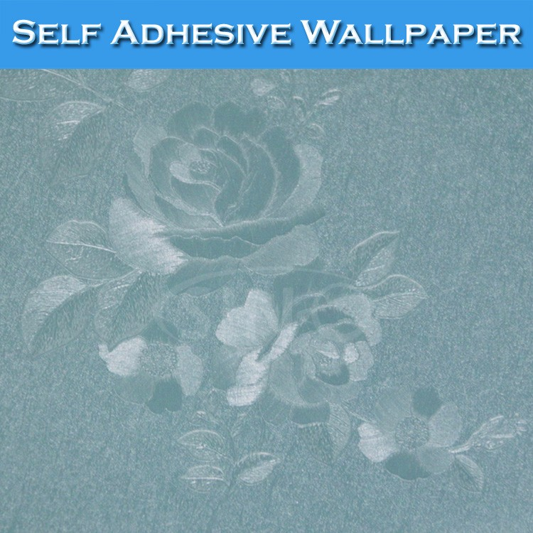 6302 Cheap Price PVC Material Film Flowers Interior 3D Wallpaper