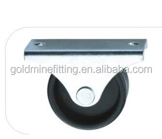 Single PP Fix Furniture Single PP Small Side Mount Caster Wheel