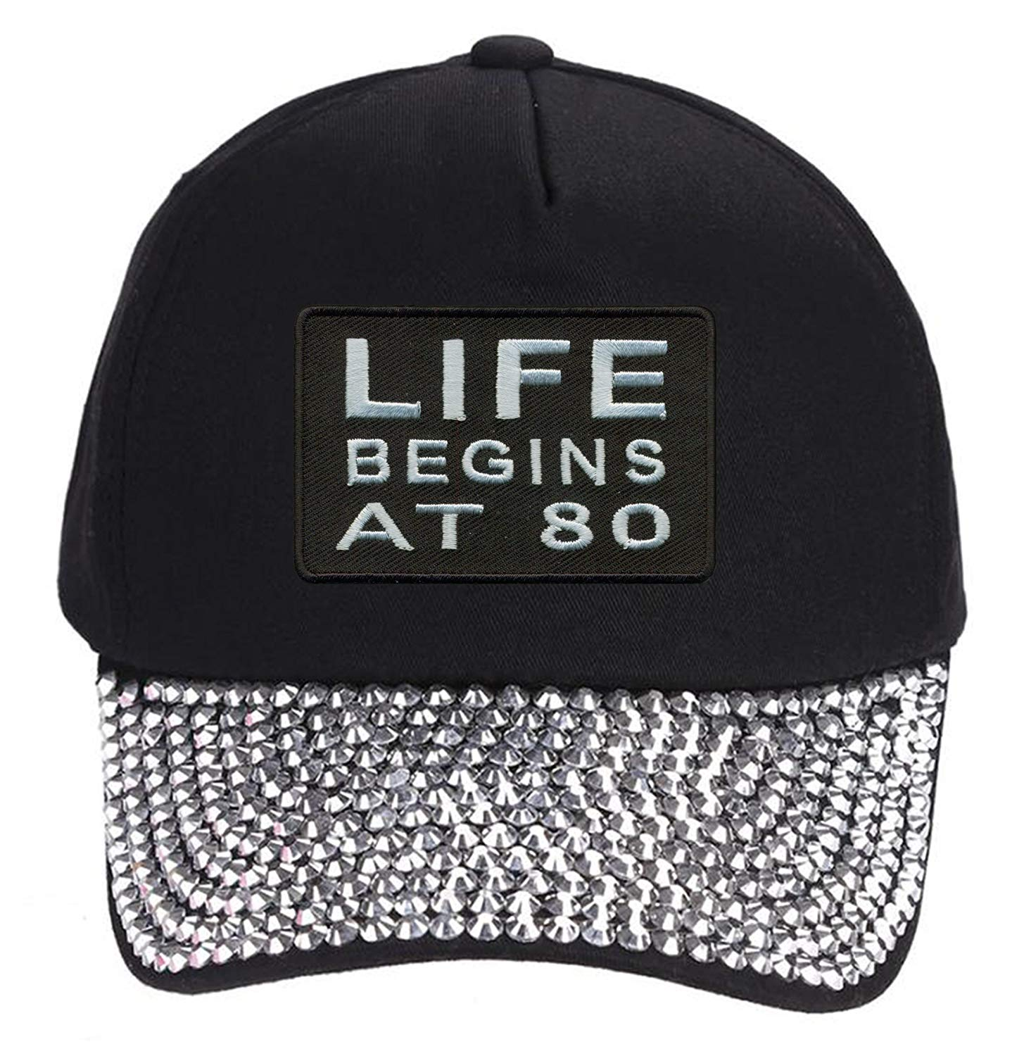 Get Quotations · Top Rated Hats Life Begins At 80 Hat - Funny Grandma  Rhinestone Studded 72c950ff2c3c