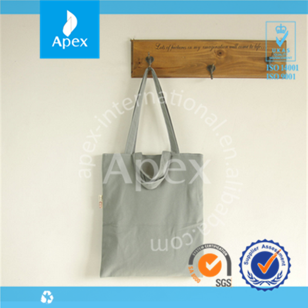 Promotional grey cotton tote bag