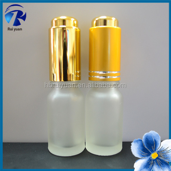 small glass bottle with lids for cosmetic packaging wholesale in china
