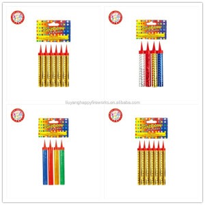 Chinese fireworks indoor wedding CE item Party Candles 10cm 35s Birthday cake Candles wholesale Fireworks