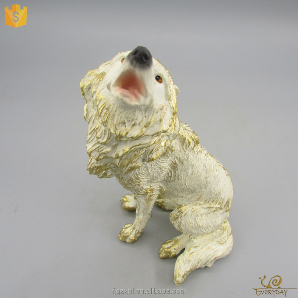 OEM China Customized Wolf Figurine, Polyresin Wolf Garden Statues, Resin Life Size Wolf Sculpture