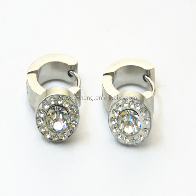 Popular Ear Piercing Studs Piercings Jewelry Rings With Crystal