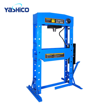 50 ton CE Foot Double Pump Hydraulic Shop Press With Gauge