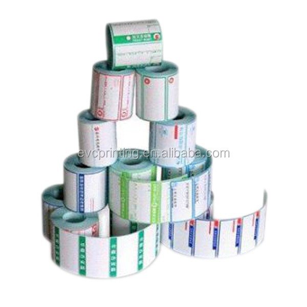 Roll adhesive paper label sticker printing