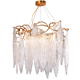 modern designer large luxury Tree branches Copper led G9 crystal chandelier lamp with Leaves crystal