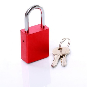 AJF Newest High quality red aluminium key lock safe