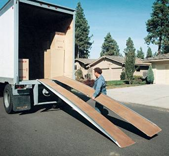 """Truck Ramp - BFAL Series; Overall Width: 36""""; Individual Width: 18""""; Length: 16'; Capacity (LBS): 5,000; Maximum Working Height: 50"""""""