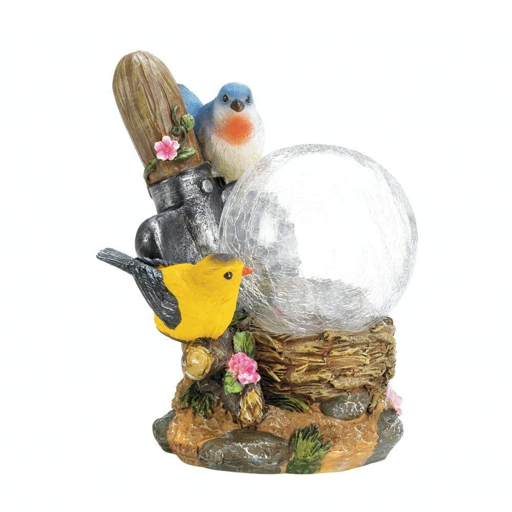 BESTChoiceForYou Songbirds Solar Lamp, 1 - Songbirds Solar Lamp, Songbirds Solar Lamp New Garden Flowers Patio Porch Yard Powered Statue, Solar Panel Garden Decorative Songbirds Lamp Finely Detailed