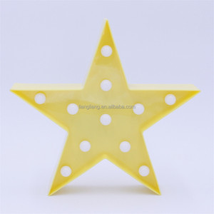 Plastic Marquee Star LED Decorative Hanging Lamp Kids Night Light