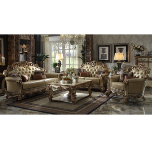 Longhao furniture American luxury style corner leather sofa