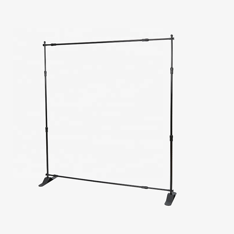 Portable black step and repeat banner photography studio background aluminum frame telescopic backdrop stand