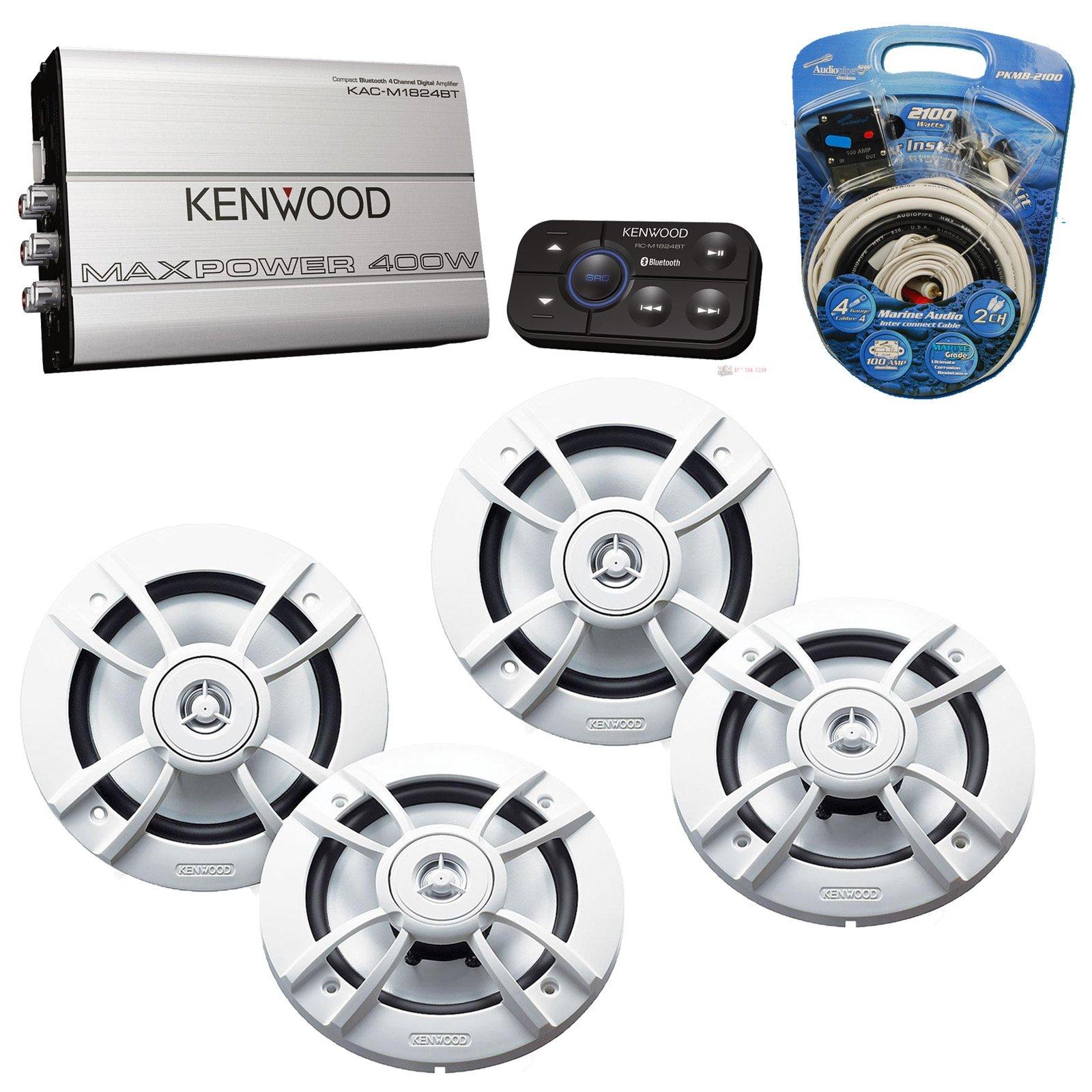 Buy Kenwood Kac M1824bt Marine Bluetooth 4 Ch Amplifier Audio Wiring New Enabled X 65 Inch White Outdoor