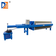 Hydraulic frame and plate filter press