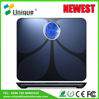 high-end ce athlete setting movable floor lcd visual bone density body fat analyzer bluetooth fitness scale for bodybuilding
