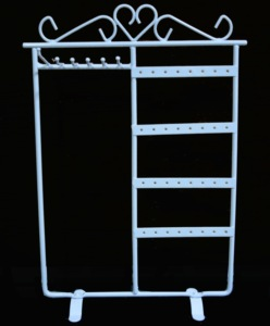 wrought iron metal jewelry display stand