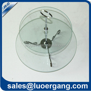clear tempered glass plate pie plate