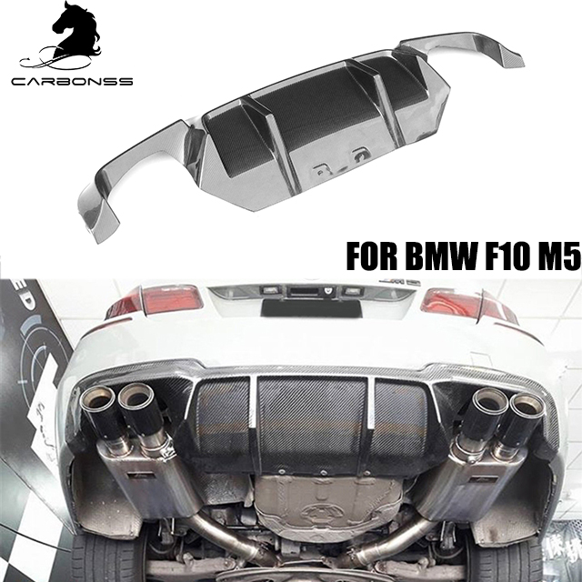 Paraurti posteriore body kit per BMW F10 M5 in fibra di carbonio ducktail diffusore 2012-2015