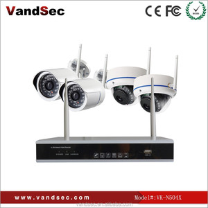 Vandsec new arrival 2.4GB strong wifi signal wireless CCTV CAMERA 4 ch ip camera system