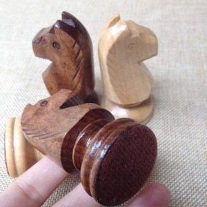 wood horse shaped game pieces wood hand made horse international chess pieces