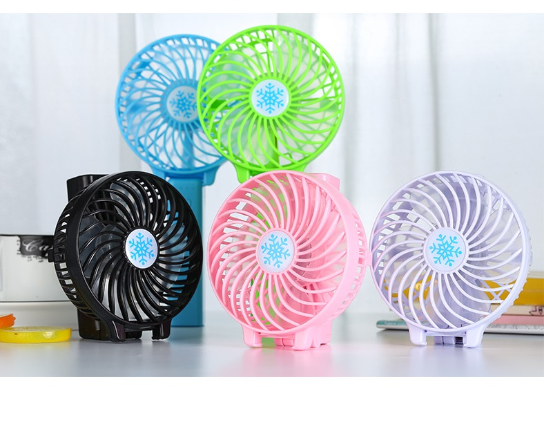 Fashionable desktop mini usb fan 3 blade folding pink blue color silent desk hot selling cooler adjustable fan