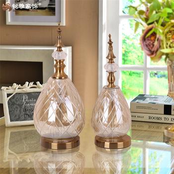 European Home Decoration Items Colored Glass Bottle Flower Vase For