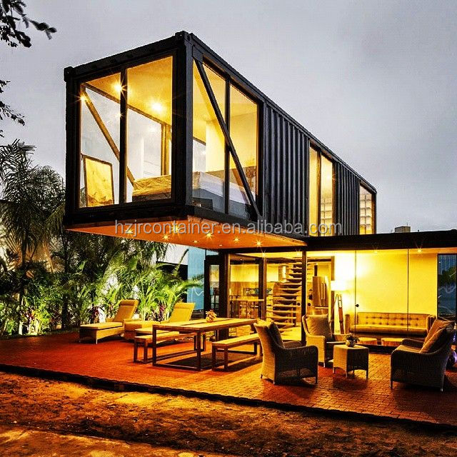 Modern Finish Black Container House Prefab Design