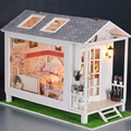 Handmade Doll House Furniture Miniatura Diy Doll Houses Miniature Dollhouse Wooden Toys For Children Birthday Gift
