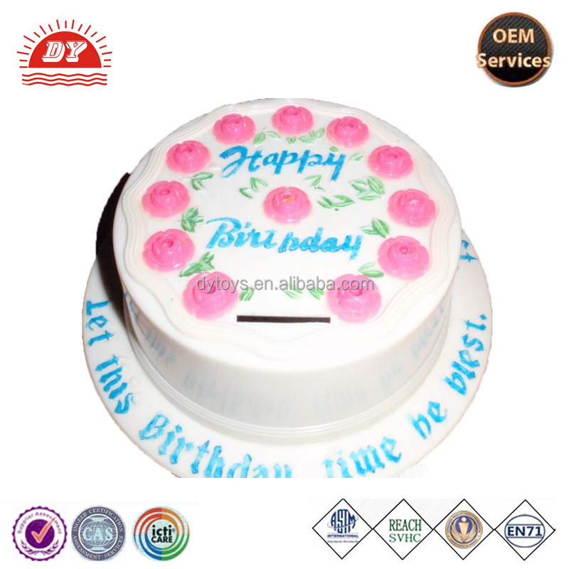 Custom Vinyl Plastic Cake Bank Buy Plastic Cake Bankplastic Cake