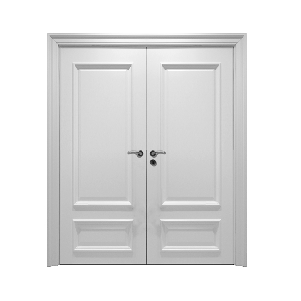 2014 new design fashin white wooden double door main for White wooden front doors