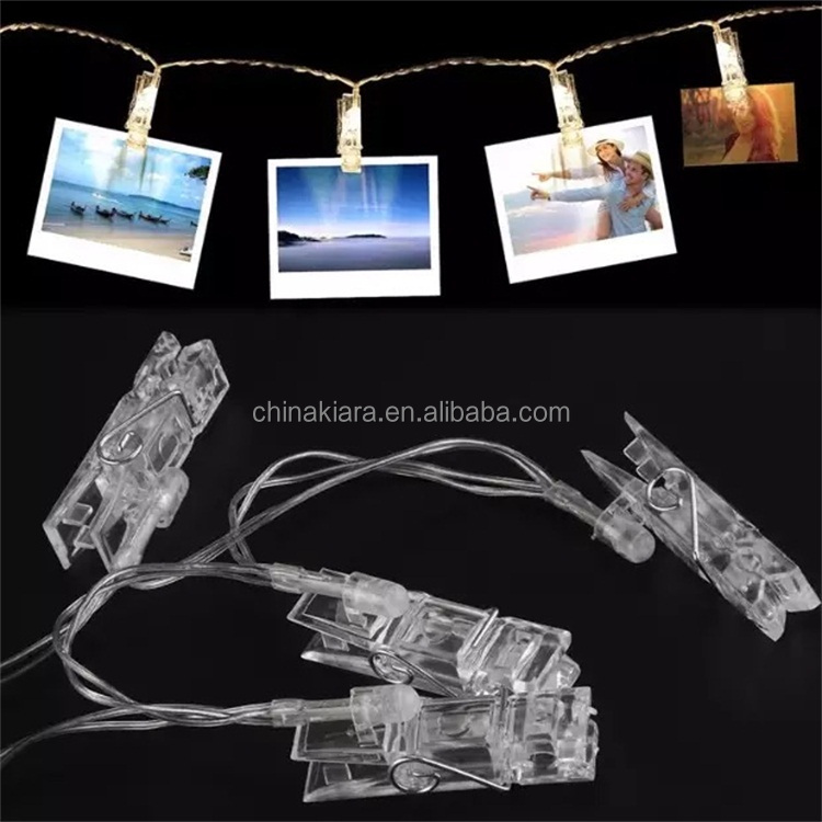 Warm White 10L 20 Led String Lights photo clip