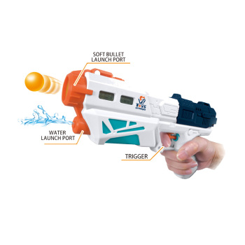 Cheap boy toy 2in1 bowling gun shooting eva soft ball gun kids water gun
