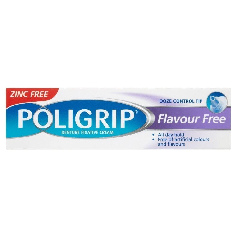 Poligrip Denture Fixative Cream Flavour Free (40g) - Pack of 6
