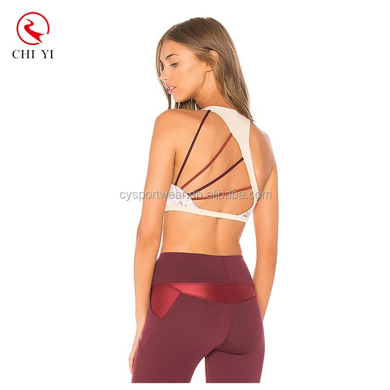 2017 Ladies Workout Sexy Yoga Clothes Strappy Racerback Sports Bra Wholesale