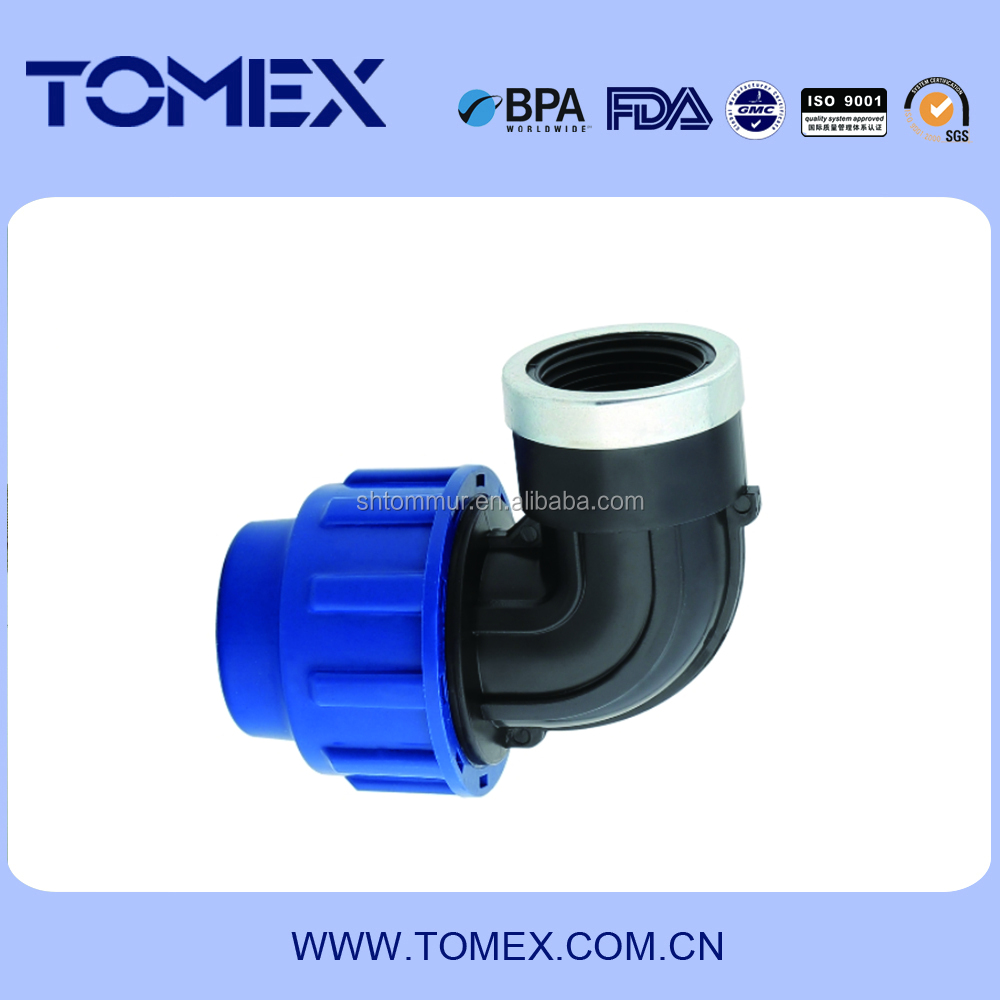 Female thread elbow compression type for HDPE Piping system made inChina
