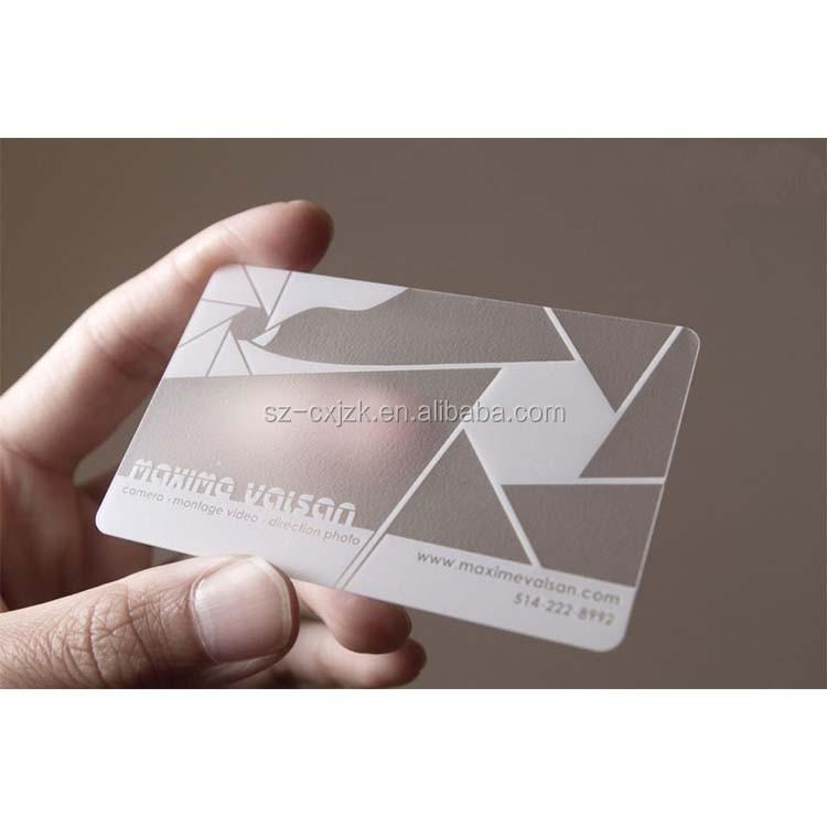 Transparent Plastic Business Cards, Transparent Plastic Business ...