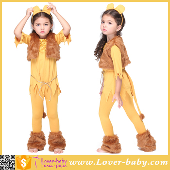 3 11 years old courage lion child girls cute halloween costume
