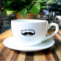 Bulk wholesale white custom printed ceramic tea cups and saucers