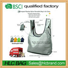 Eco 4 Pack Super Strong Ripstop Nylon Foldable Reusable Bag Grocery Shopping Tote Bag with built-in Pouch HL-PB179