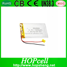 HOPcell 604568 small Tablet PC lithium battery Lipo 3.7v 1500mah 4.2V li polymer battery