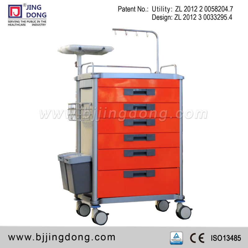 ABS Hospital medical Emergency/Crash Trolley/cart with 6 drawers