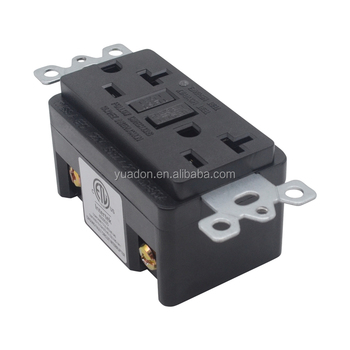 ETL certification 20A 125V 2 ways USA industrial grade GFCI outlet receptacle