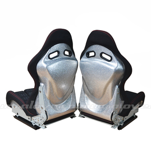Low Max Silver Resin Safety Adjustable Sport Car Seat