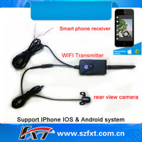 WiFi P2P Wireless transmitter waterproof car front side view camera, support iPhone, iPad, Android system