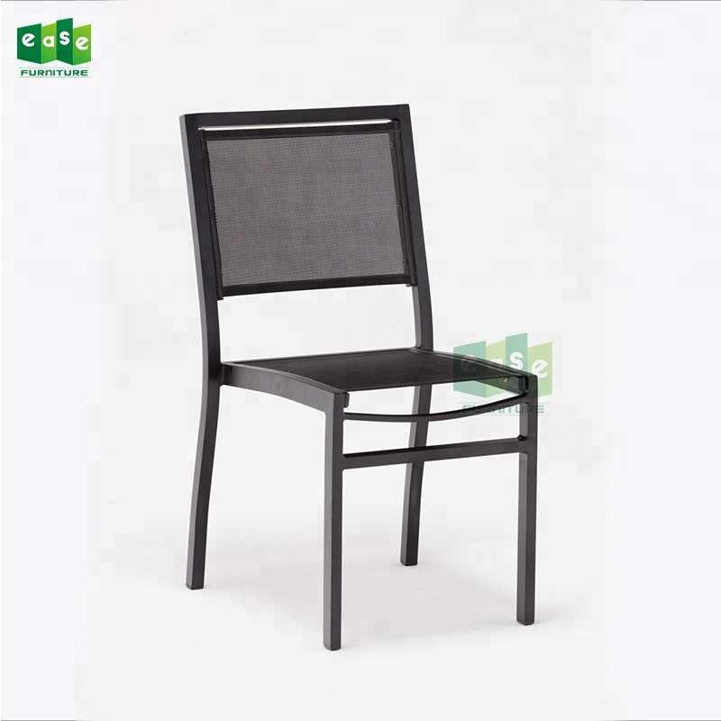 Outdoor Aluminum Stacking Sling Bistro Side Chairs E1103