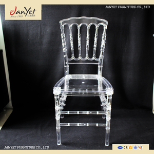 Wholesale cheap wedding party stackable crystal clear plastic napoleon chairs