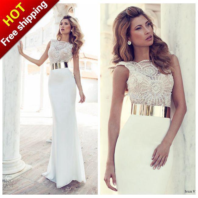 c51d81238cb 2015 вечерние платья новые формальных элегантный сексуальный v-образным  вырезом белым бисером шифона длинные выпускной